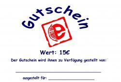 Gutschein Gutschein |15€